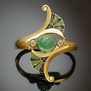"""Here is a beautiful example of Art Nouveau. Art Nouveau began in the 1890's and the tagline for the art movement was """"Art for all, and Art ..."""