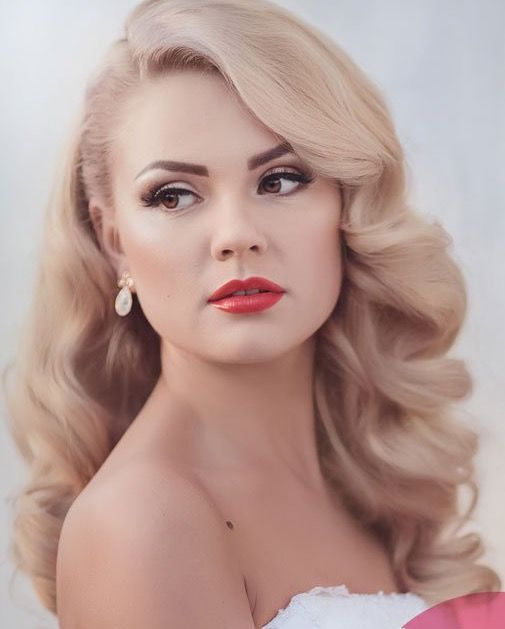 50+ Dare and Lovely Red Lips Makeup for Brides Ideas