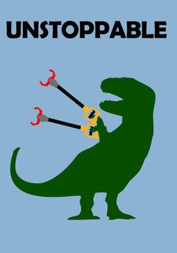 Unstoppable T-rex.  Making this into a shirt!