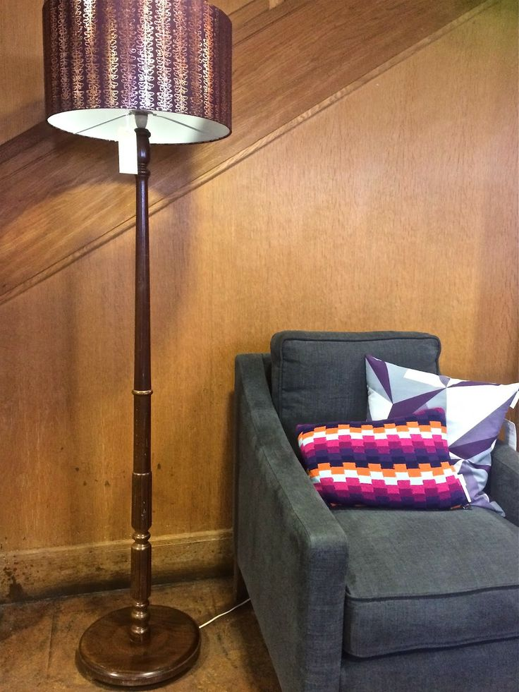 Aubergine Gilded lampshade clementine and bloom