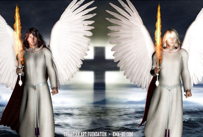 Angels of God 3D CGI FlamingSword2 700