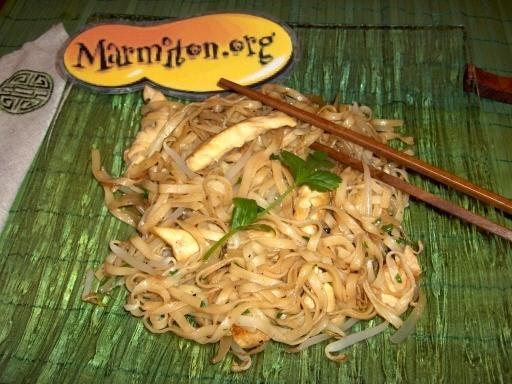nouilles chinoises soja et poulet au wok facile