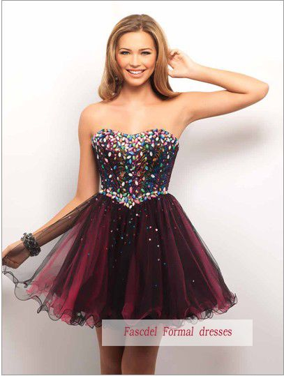 free shipping 2016 New design hot seller haute couture ball gown Mini Formal Pageant dress short Homecoming Dresses