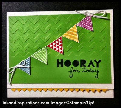 Birthday card for my dad created with the new Geometrical set from the Stampin' Up! Occasions Catalog! www.inkandinspirations.com