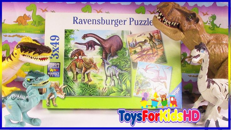 Videos de Dinosaurios para niños - Puzzle de Dinosaurios - Juguetes de Dinosaurios  ToysForKidsHD