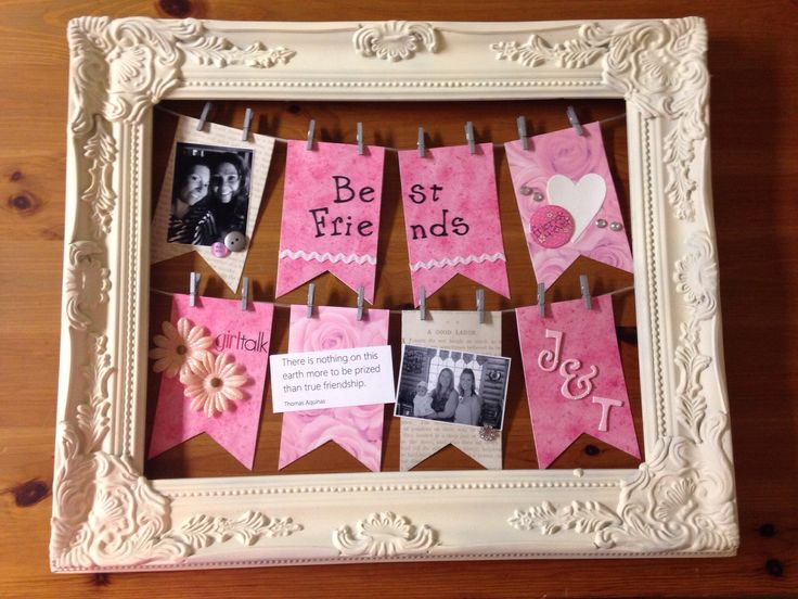 Best Friend Birthday Gift Scrapbook Com Altered Frames