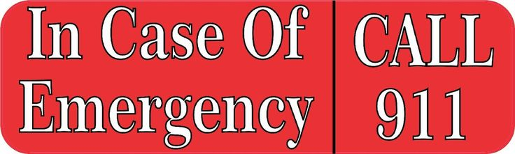 10x3 Emergency Call 911 Vinyl Business Decal Store Sign Decals Sticker Stickers