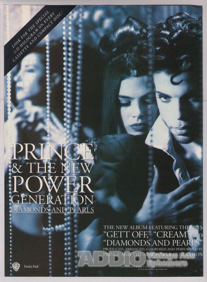 Prince New Power Generation '90s Robia LaMorte Diamonds and Pearls Print Ad 1991