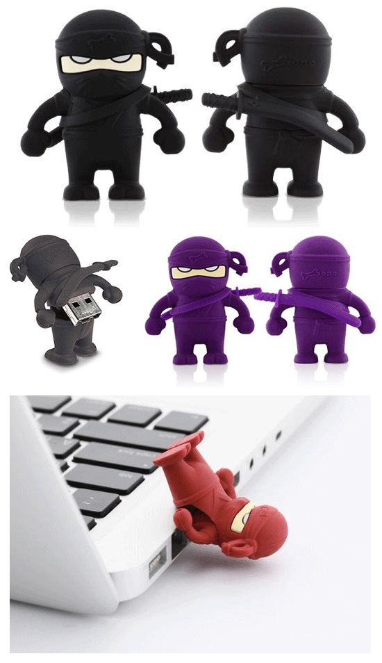 Bone Ninja flash drives - I would get one of these if I still used flash drives