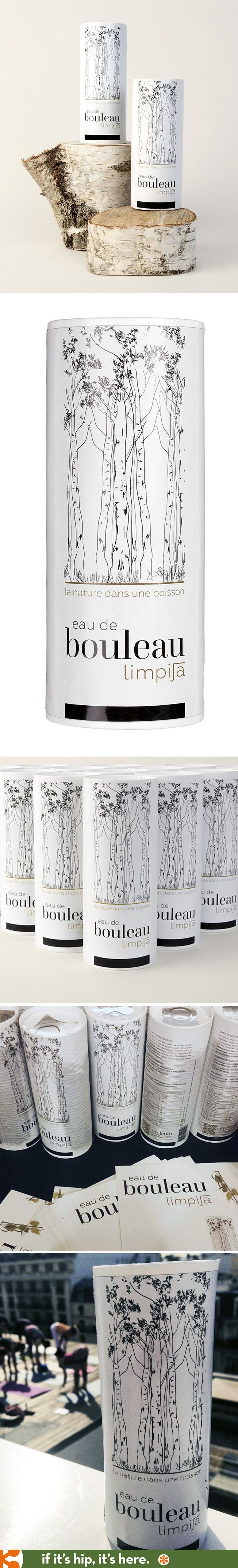 packaging Limpija Eau de Bouleau (Birch Water from Finland) by Evoleum