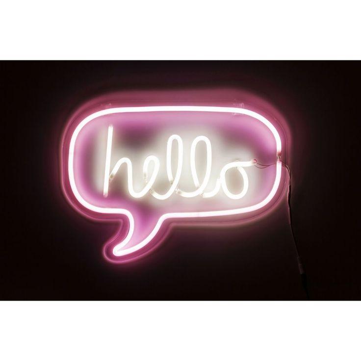 Φωτιστικό Τοίχου Neon Hello  Θα σας εντυπωσιάσει το χρώμα του και ο ατμοσφαιρικός φωτισμός του  €85