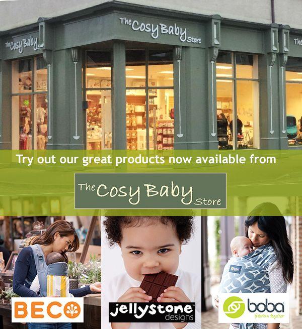 If you live in the Midlands Region of Southern Ireland, you can now try out Beco, Jellystone & Boba products at the The Cosy Baby Store in Athlone on the shores of the River Shannon