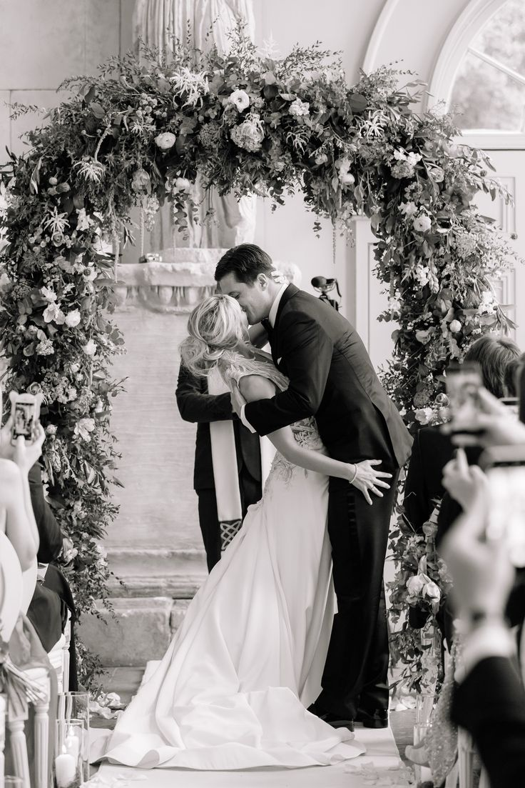 Boho wild and flowing floral wedding arch - you may kiss the bride - Anyhoe Park Joanna Carter Wedding Flowers