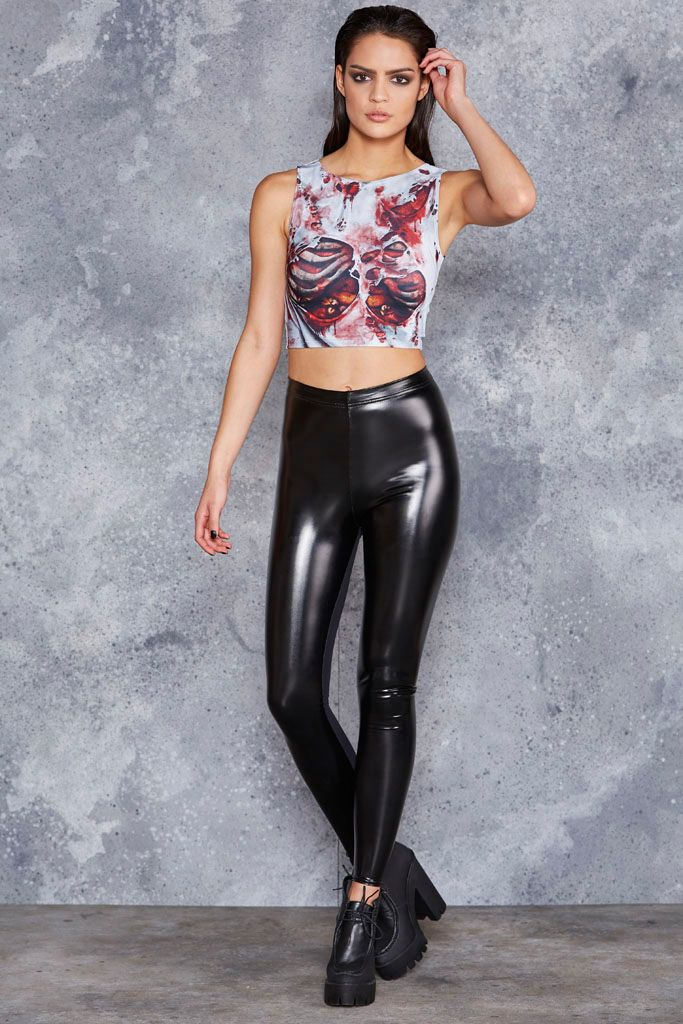 Zombie Guts Wifey Top - 48HR ($50AUD) by BlackMilk Clothing