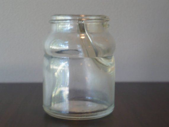 Vintage Clear Glass Ink Well Double Well Inkwell Theearlybirdfinds Small Glass Jars Clear Glass Glass Jars