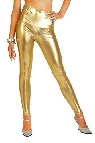 Damen Einhorn Space Traveller Kostüm Goldene Leggings zu Karneval, Halloween & Fasching | ca €6