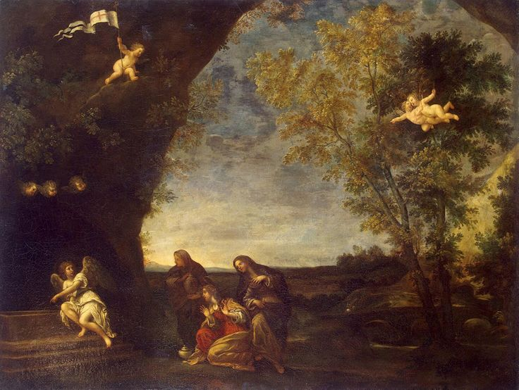 Holy Women at Chirsts Tomb - Francesco Albani | Christian Paintings