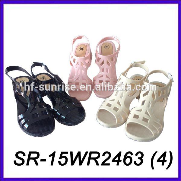 Beige pvc gelée des femmes jelly sandales gelée sandales filles sandales à talons hauts-image-Sandales-ID de produit:60297972645-french.alibaba.com