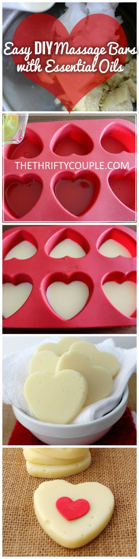 What a great recipe! If you have always wanted to learn how make the lotion massage bars, here's your chance. Did you know it was this easy? Maybe 10 mins of hands-on time?? It is a frugal solution to homemade moisturizers and also a nice DIY gift idea. Plus you can make them any shape and use any essential oils.