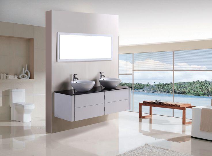 SaniGoods Giant badkamermeubel 152cm hoogglans wit itemprop=