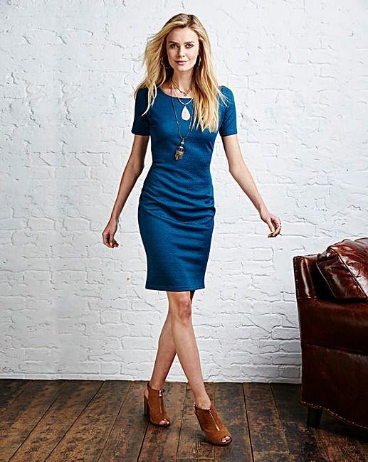Textured Bodycon Dress   Fifty Plus