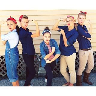 Rosie(s) the Riveter(s)   21 Clever Halloween Costumes For Lazy Groups