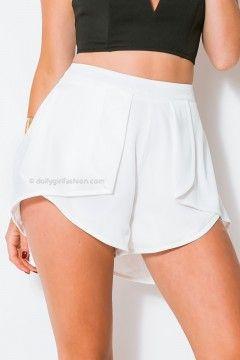 Night Around Shorts - White