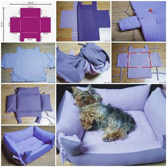 Kumaşlardan Evcil Hayvan Yatağı Yapımı