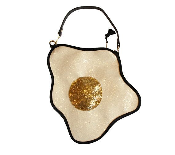 Glitter Fried Egg Clutch Handbag by LunaontheMoon on Etsy, £60.00