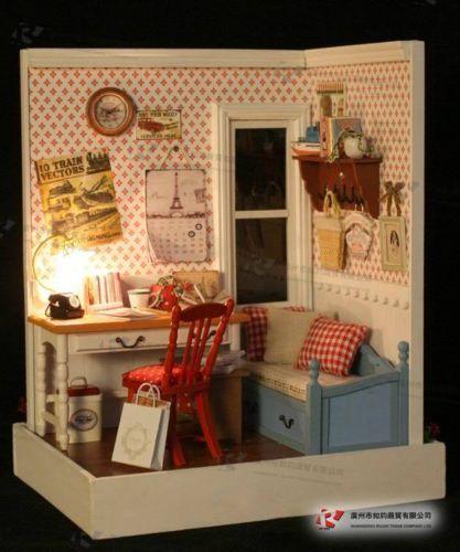DIY Wooden Dollhouse Miniature Kits Lodge Town Series Warm Memories Great Kits   eBay