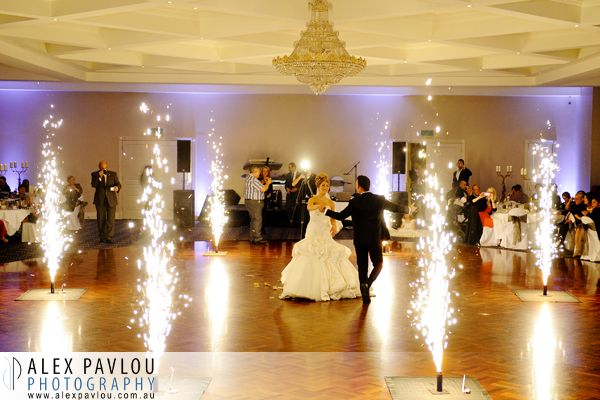 Wedding photographer melbourne - Manor on High Epping - indoor fireworks  - Photography by: Con Tsioukis of Alex Pavlou Photography - www.alexpavlou.com.au