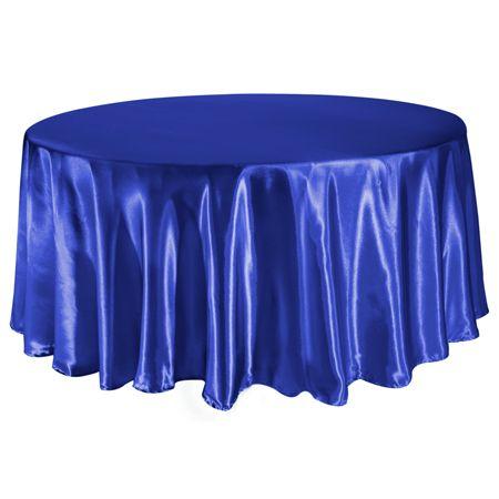 TCSN-120RY 120 Inch Round Royal Blue Satin Tablecloth $8.99