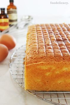 A simple and classic Nonya recipe for a very rich, moist and decadent butter cake with a light hint of vanilla flavour. (Adapted from source: 'The Best of Singapore Cooking' by Mrs Leong Yee Soo).