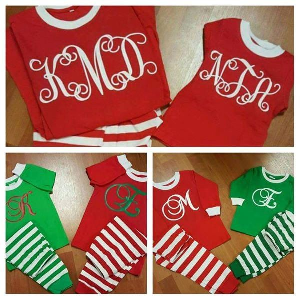 Personalized / Monogrammed Matching Christmas Pajamas for Adults and Children…