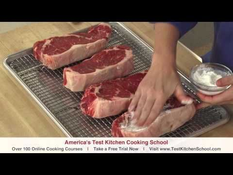 Good short video form America's Test Kitchen.  The secret to cooking steaks.  These are easy tips!
