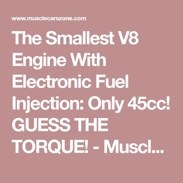 The Smallest V8 Engine With Electronic Fuel Injection: Only 45cc! GUESS THE TORQUE! - Muscle Cars Zone!