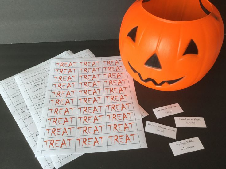 Halloween Trick or Treat Game - Classroom Party Game - Youth Group Game - Teen Party Game - Digital Download by PamsPartyPrintables on Etsy