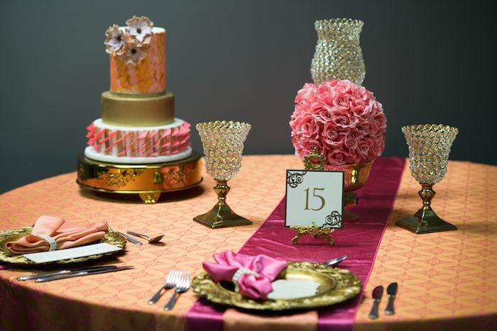 CB Mini Shoot Challenge – Enriched Events A tablescape similar to this for a table seating 8 guests would cost $300 to $350 (cake being extra). Designer: Sonia Ulmer, Enriched Events Surprise Theme: Bohemian Romance Photography: Meghan Elizabeth Photography Cake: Cakes In Vogue Rentals: GreatEvents Group