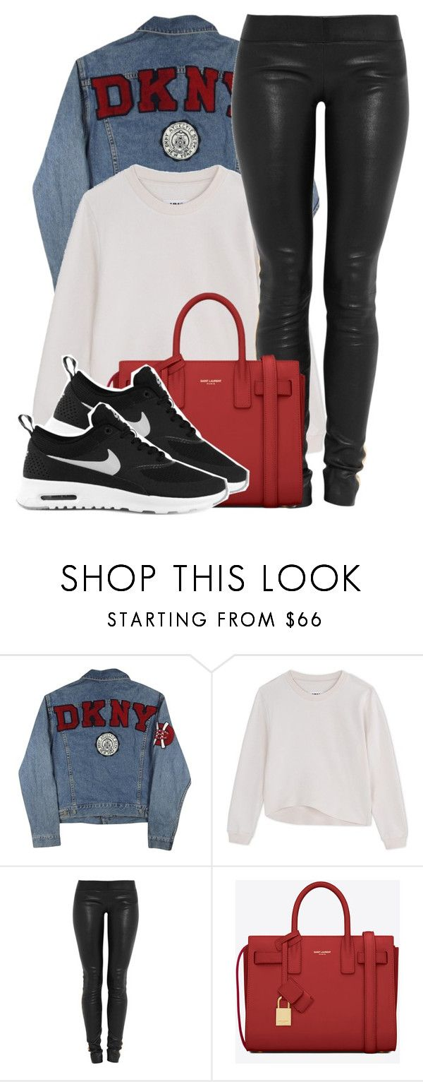 """capsize"" by aiyanaa ❤ liked on Polyvore featuring DKNY, MM6 Maison Margiela, Jay Ahr, Yves Saint Laurent and NIKE"