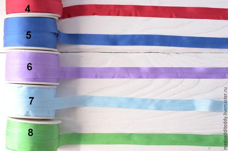 Купить Лента шелковая 13 мм 9 цветов - бежевый, лента, лента шелковая