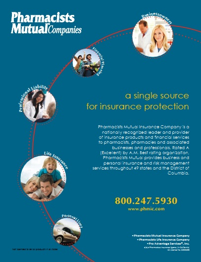 Single Source Insurance Protection by Pharmacists Mutual- Pharmacists Mutual Companies is a nationally recognized leader in providing insurance products and risk management solutions for pharmacists, dentists, and associated businesses and professionals. Way #11 Spring 2012/ Improving Patient Care & Pharmacy Profitability ----- (As seen in the SPRING 2012 20Ways publication www.rxinsider.com..)