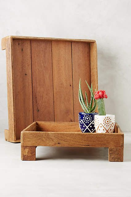 Reclaimed Wood Tray - anthropologie.com