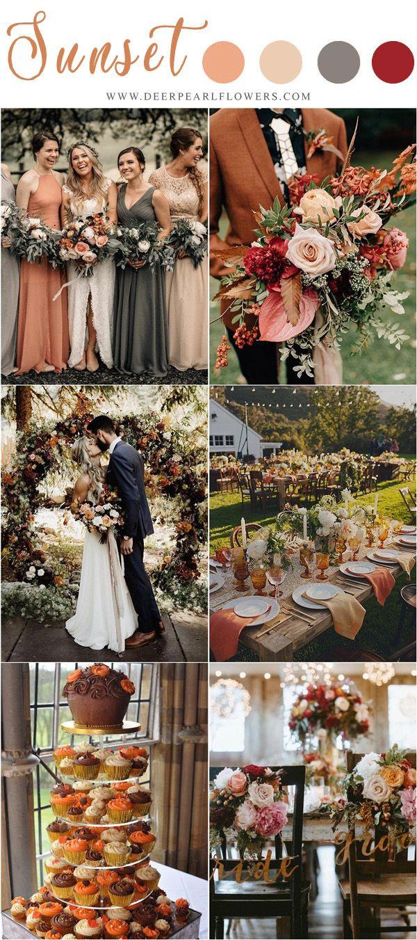 20+ Vintage Sunset Orange Wedding Color Ideas for 2019 ...
