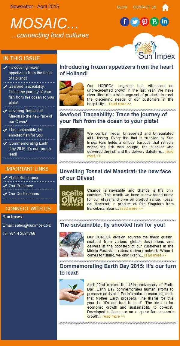 Sun Impex Newsletter - April 2015