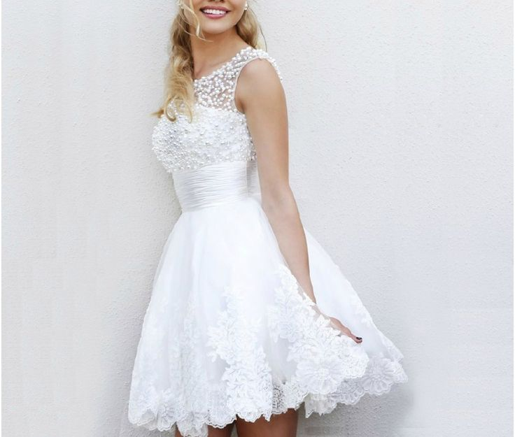 2014 Free shipping White Party Homecoming Prom Gowns Ball Formal elie saab Short Evening dresses vestidos de fiesta TK044 US $83.50