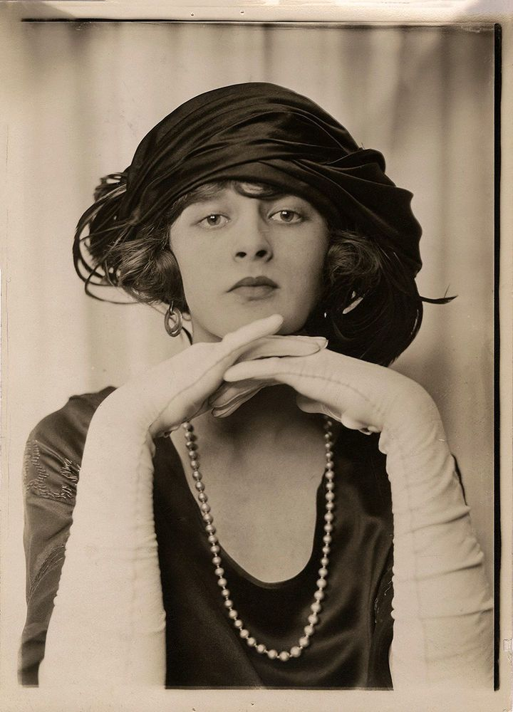 Gorgeous Fashion Model 20s Photograph Illustrator Charles Sheldon Edwardian Hat