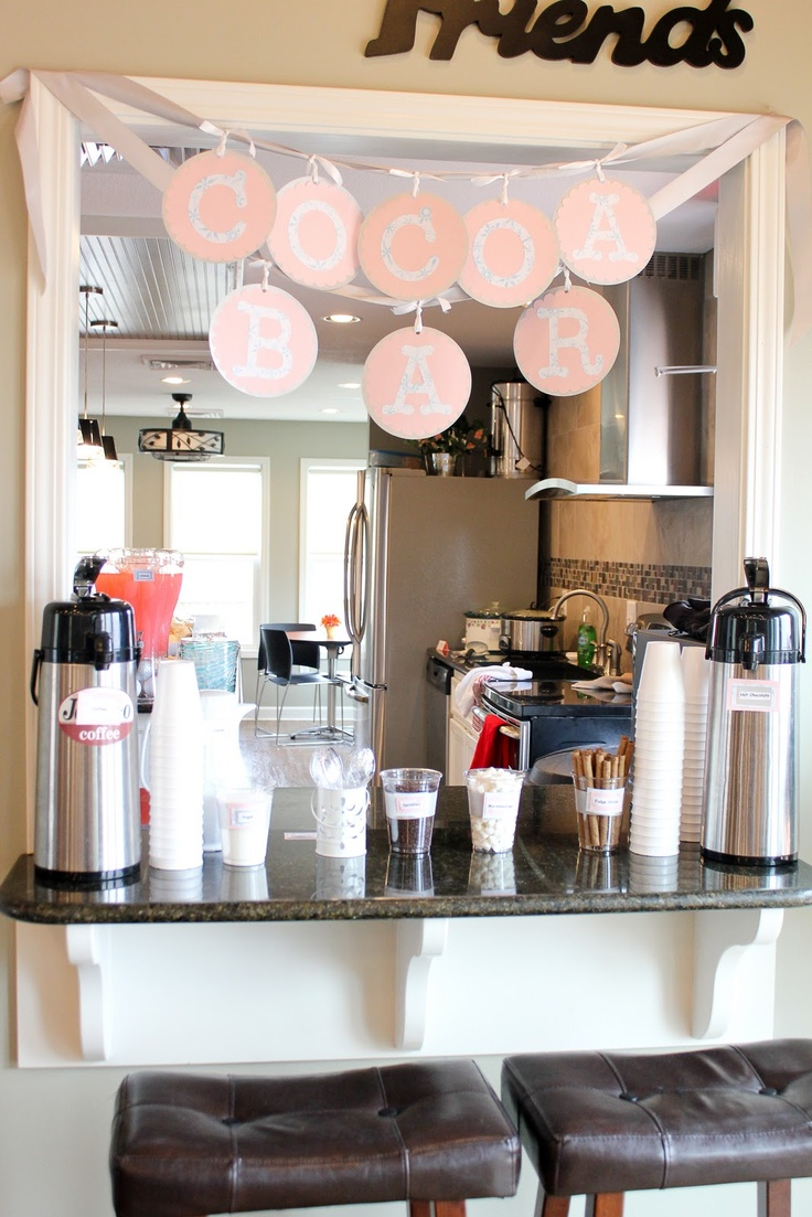 Winter ONEderland Party - cocoa bar... Also for adults!