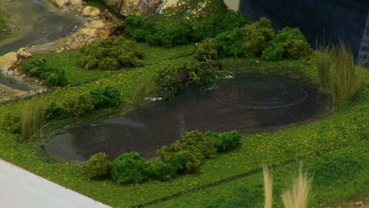 Realistic Water & Water Effects - Model Scenery | Woodland Scenics, via YouTube.