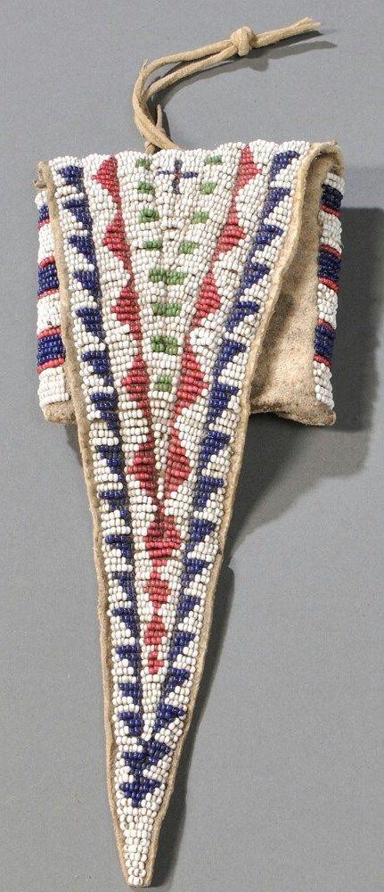 Bag | Cheyenne Tab Beaded Hide Geometric Design 8