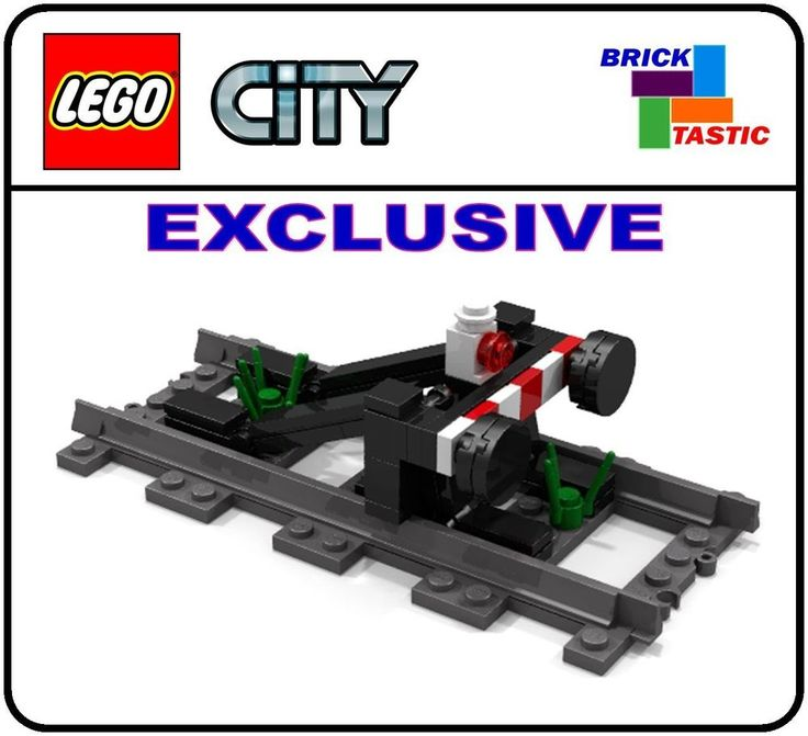 NEW Lego CITY train buffer for straight track, power functions INSTRUCTIONS ONLY